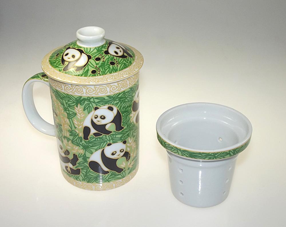 mug pour le th en c ramique d cor panda. Black Bedroom Furniture Sets. Home Design Ideas